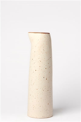 Smooth Stone Ceramic Pitcher
