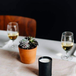 Load image into Gallery viewer, Leather + Oak Matte Black Candle