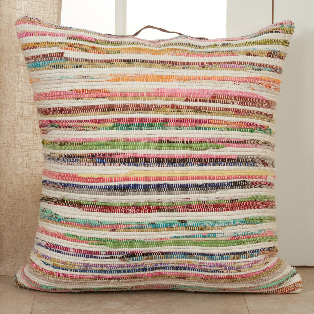 Oversized Chindi Floor Pillow