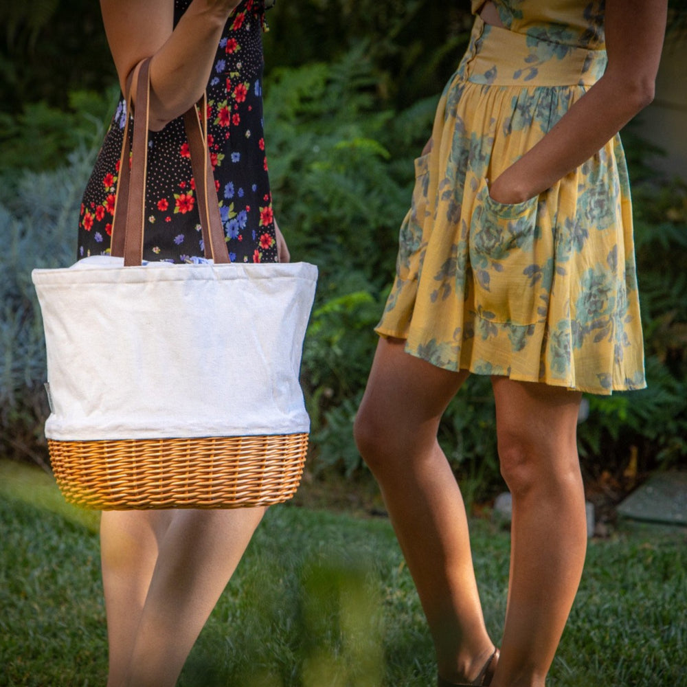 Canvas and Willow Basket Tote