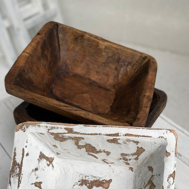 Load image into Gallery viewer, Hand Carved Wooden Square Bowl - Natural
