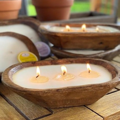 Petite Carved Bowl Candle - Citronella