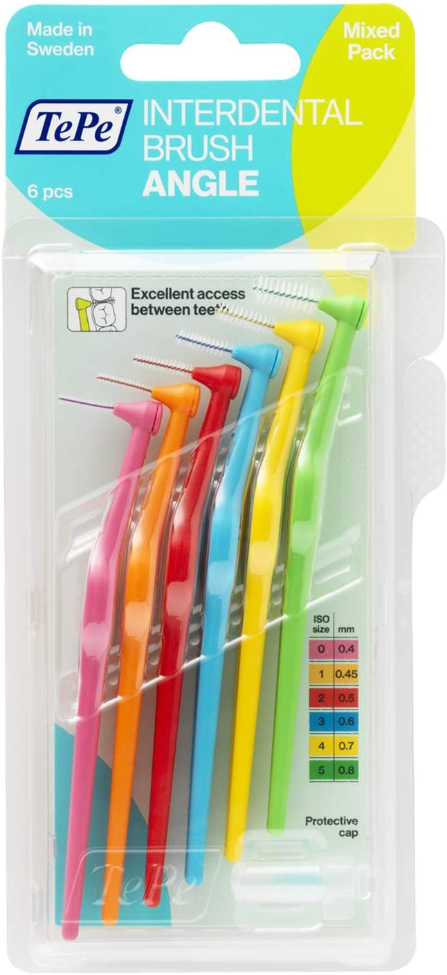 TePe Interdental Brush Angle Size Mixed Pack