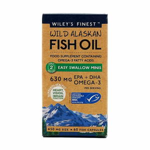 Wiley's Fish Oil Easy Swallow Minis - 60 Capsules