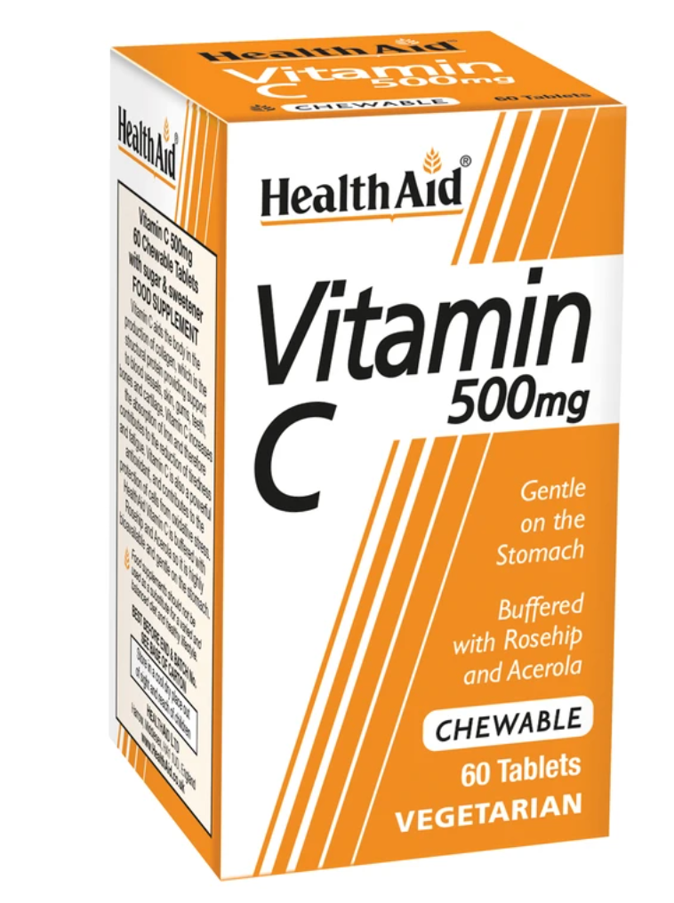 HealthAid vitamin C 500mg- 60 tablets