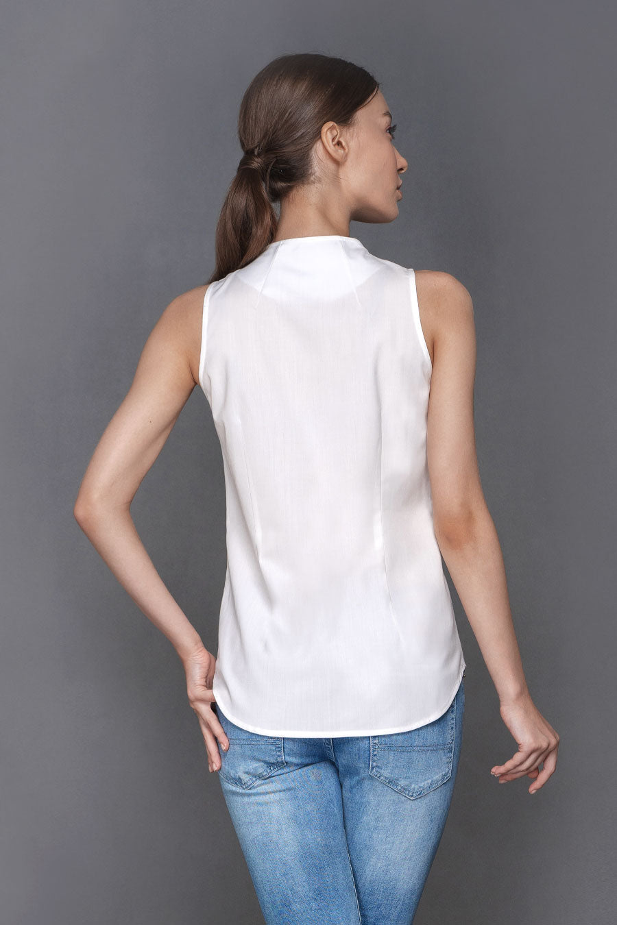 Hope - Sleeveless White Shirt