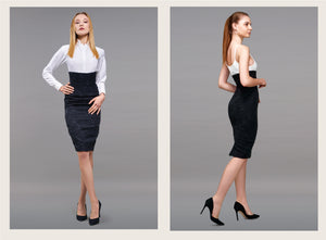 Katherine - High Waisted Pencil Skirt