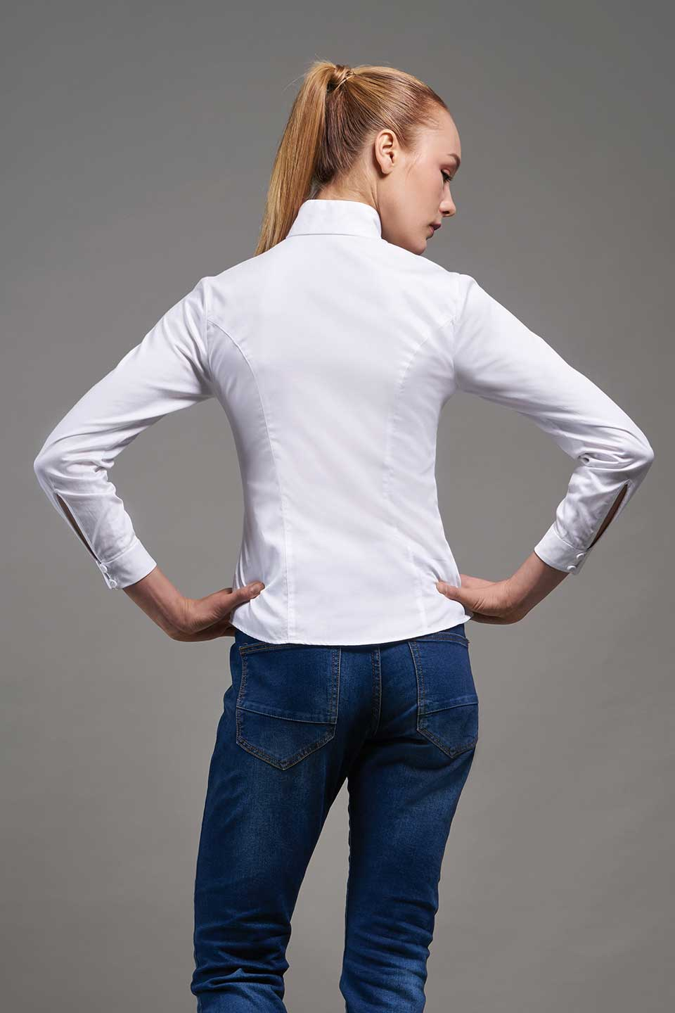 A Shirt by Adam Liew Charlotte White Shirt On Model