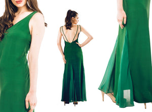 Vita - Forest Green Long Maxi Dress