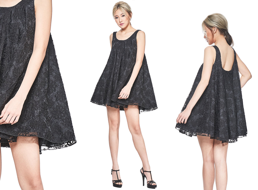 Willow - Limited Edition. Black Lace Dolly Skirt. 10 pieces.