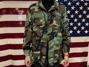 US Military Vintage Camo Ripstop Mens Over Shirt Jacket