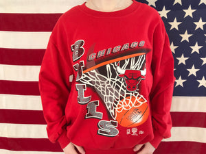 Chicago Bulls NBA 90's Vintage Official Licensed Product Sporting Crew Sweat