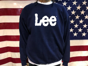Lee ®️ M.R. Logo 80's Vintage Raglan Sleeve Crew Sweat Made In USA by Lee