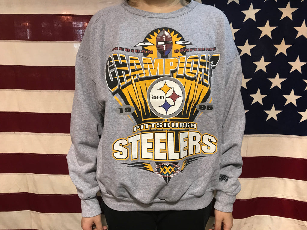 Pittsburgh Steelers NFL 90's Vintage Crew Sporting Sweat by Starter Made in USA