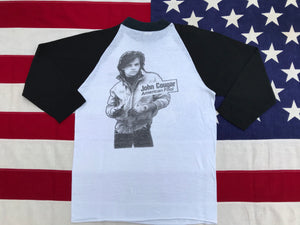 "John Cougar Mellencamp "" American Fool '82 "" Original Vintage Rock 3/4 Raglan Sleeve T-Shirt Made in USA"