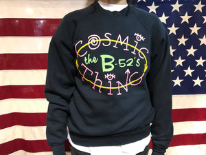 Rare The B-52's Cosmic Thing Vintage 1989 Tour Rock Crew Sweat