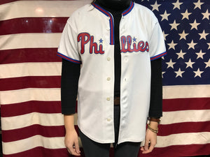 Phillies Baseball Vintage Jersey Player Rollins No 11 by Majestic