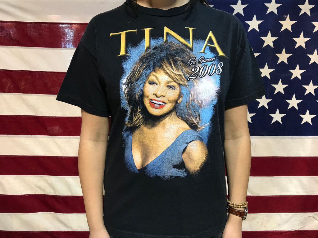 Tina Turner In Concert Tour USA 2008 Vintage Rock T-Shirt by Delta