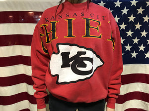 Kansas City Chiefs NFL 1993 Vintage Crew Sporting Sweat