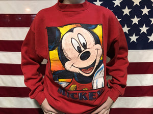Mickey Mouse 90's Vintage©️Disney Crew Sweat by Mickey Unlimited