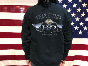 Harley Davidson 2004 Vintage Crew Sweat Twin Cities USA