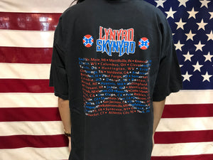 "Lynyrd Skynyrd Tour 2002 "" Outta The Hole "" Concert  Original Vintage Rock T-Shirt by Allsport USA"