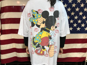 Minnie & Mickey Mouse Florida 90's Vintage Oversized Crew T-Shirt by The Walt Disney Co