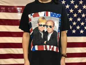Elton John & Billy Joel 1994 Tour Original Vintage Rock T-Shirt Made in USA