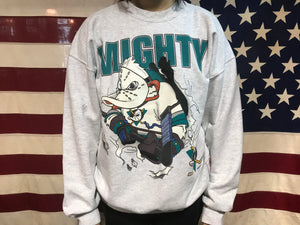 Mighty Ducks NHL 90's Vintage Crew Sporting Sweat by Nutmeg Made in USA