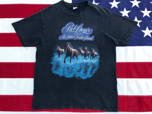 "Bob Seger & The Silver Bullet Band "" Touring Against The Wind 1980 "" Original Vintage Rock T-Shirt by Hanes Made in USA"