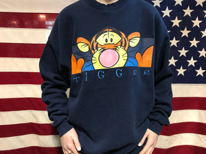 Tigger 90's Disney Vintage Crew Sweat By The Disney Store Made In USA