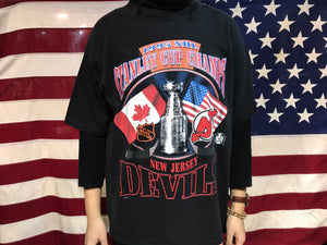 Stanley Cup Champs New Jersey Devils 1995 NHL Vintage Crew T-Shirt