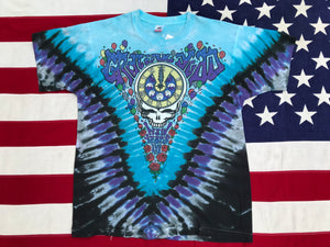 "Grateful Dead RARE - Ian Bohorquez "" New Years Eve '90 - '91 "" Original Vintage Rock Tie Dye T-Shirt by Fruit Of The Loom Made in USA"