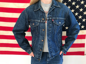 Levis Denim Mens Blanket Lined Vintage Trucker Jacket