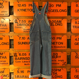 Dickies Workwear Denim 90's Vintage Mens Blue Denim Long Overalls