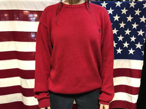 Chaps Vintage 90's Red Cotton Crew Knit