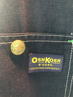 OshKosh B'Gosh Denim Vintage Mens Blanket Lined Work Wear Cord Collar Jacket