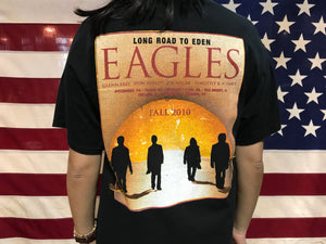 Eagles Long Road To Eden USA Tour 2010 Vintage Rock T-Shirt by Hanes