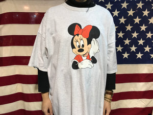Minnie Mouse Vintage 90's Oversized Crew T-Shirt by Mickey Inc. The Walt Disney Co