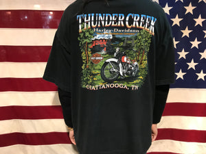 Harley Davidson Vintage Mens T-Shirt Print Year 2002 Chattanooga Made in USA