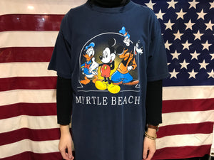 Mickey Mouse Myrtle Beach 90's Vintage Crew T-Shirt by Mickey Unlimited Disney