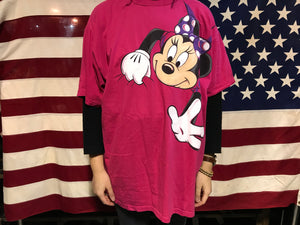 Minnie Mouse 90's Vintage Oversized Crew T-Shirt by Disney Designs Made in USA