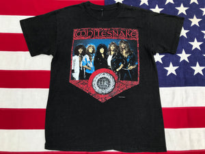 WHITESNAKE Serpens Albus North American Tour 1987-88 Original Vintage Rock T-Shirt USA