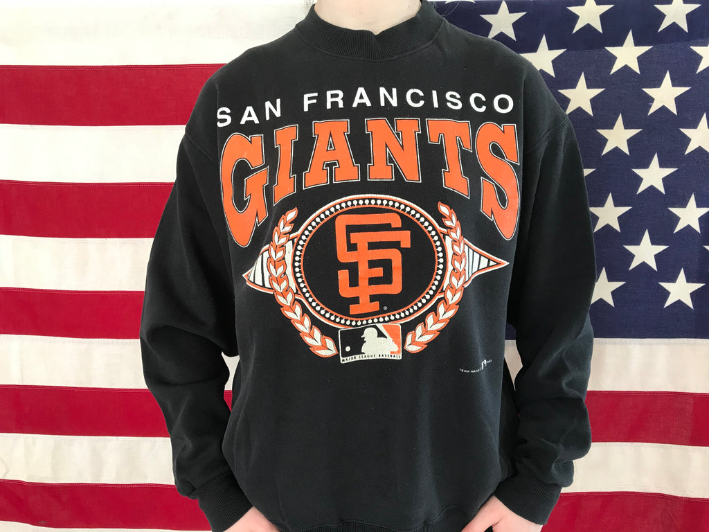 San Francisco Giants MLB 90's Vintage Crew Sporting Sweat by Hanes USA