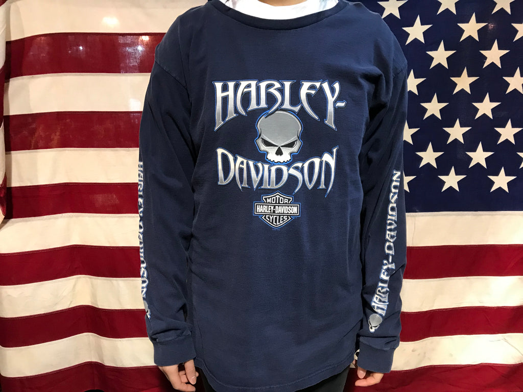 Harley Davidson Twin Cities Vintage Made in USA Long Sleeve T-Shirt