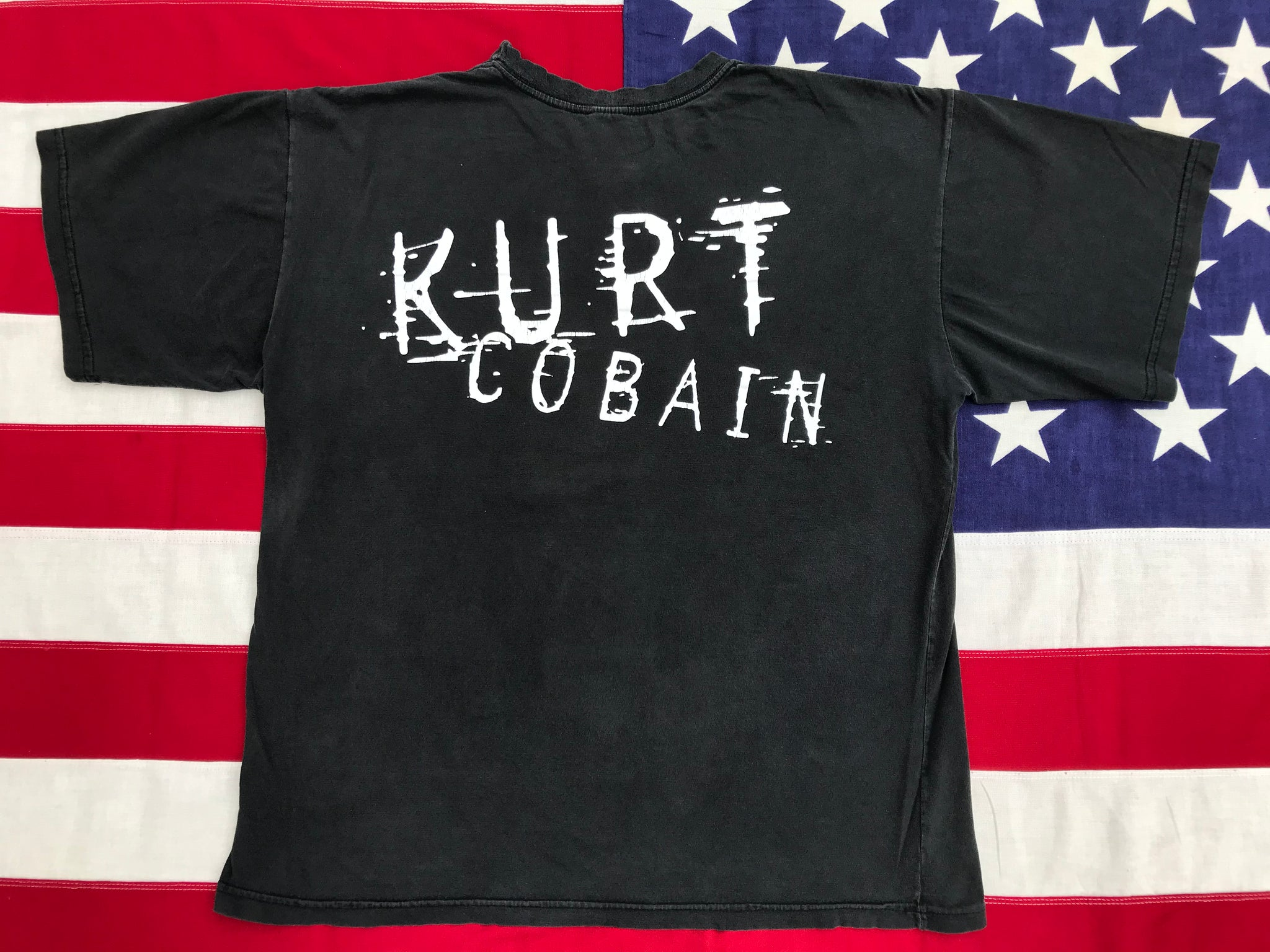 Kurt Cobain - Nirvana RARE Early 90's Original Vintage Rock T-Shirt Double Sided Size XL