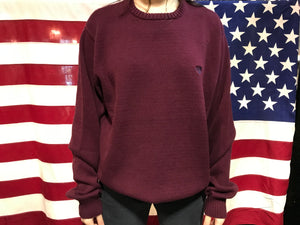 Chaps Vintage 90's Burgundy Cotton Crew Knit