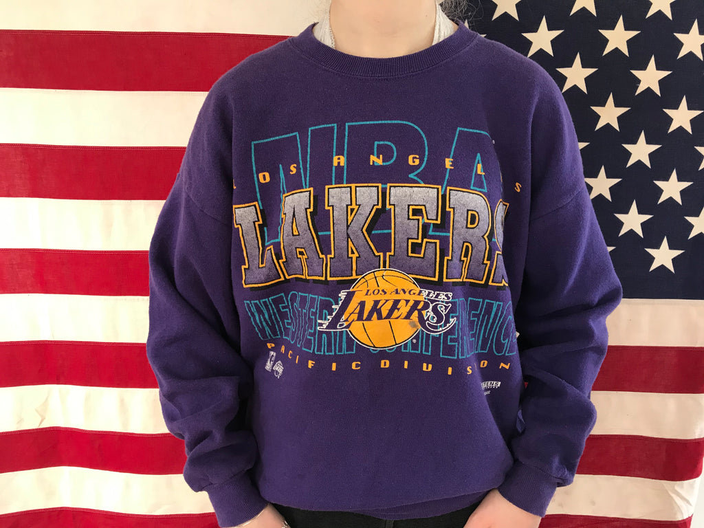 Los Angeles Lakers NBA 90's Vintage Crew Sporting Sweat by Jostens Sportswear Made in USA