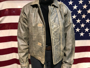 Joshua Ross 80's Vintage Leather Mens Bomber Jacket