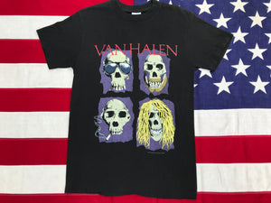 Van Halen OU812 1988 World Tour Original Vintage Rock T-Shirt by Spring Ford Classic Sportswear Made in USA